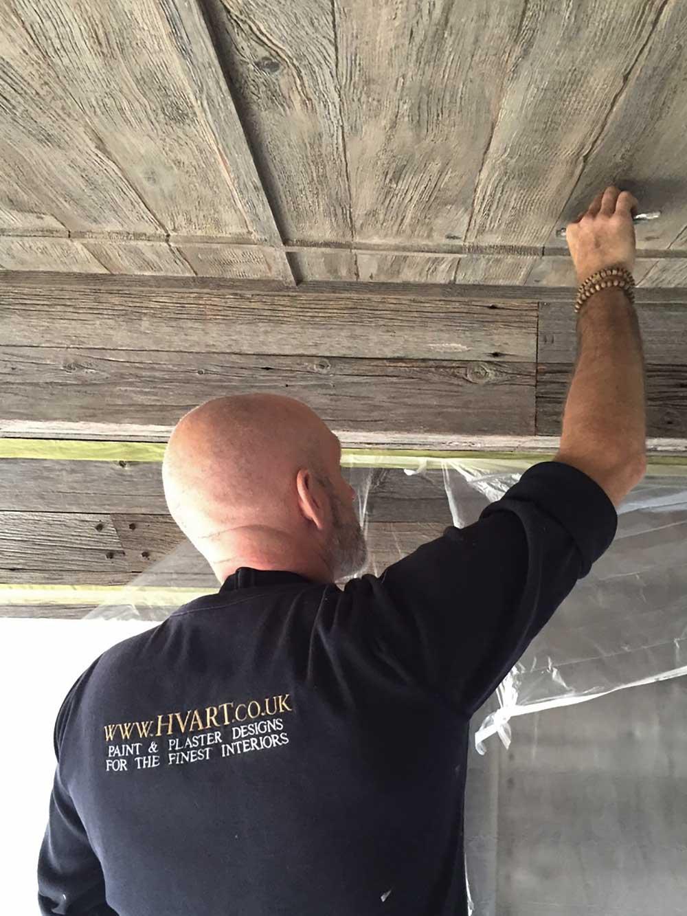 Richard On The Seychelles Faux Aged Wood Ceilings Henry Van Der Vijver