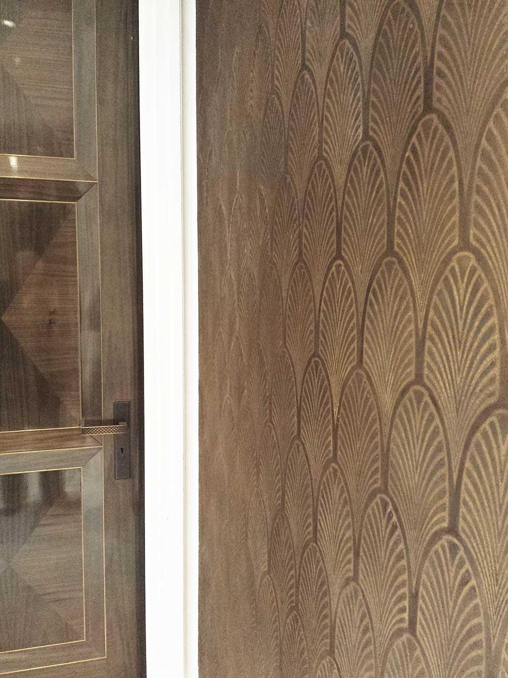 Polished Plaster Art Deco Stucco Design   Hand Applied In Situ Finish    INTERIOR WALLS U2013